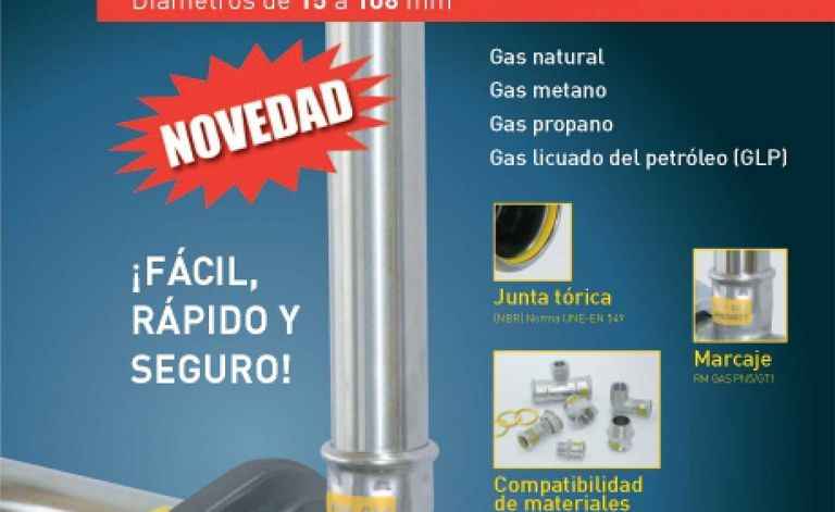 Sistema de presffitting inoxPRES GAS